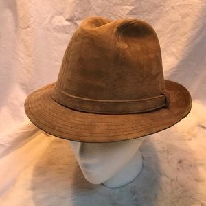 f58abd2aa9f5b Vintage Stetson Tan Suede Fedora Hat